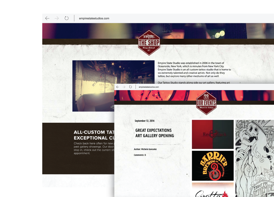 Empire State Studio Website Design