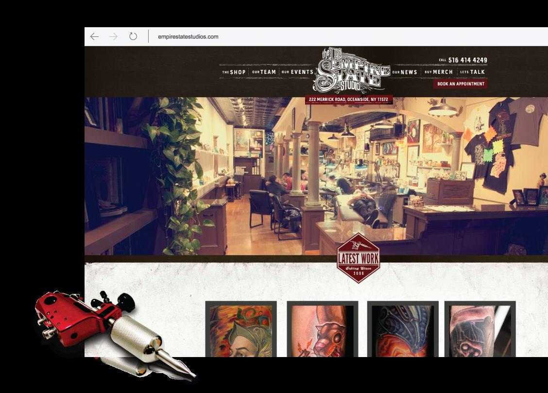 Empire State Studio Website Design